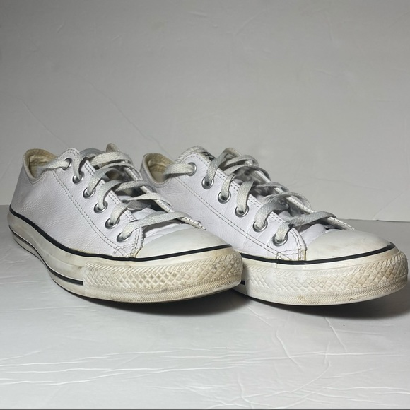 Converse All Star Unisex White Leather Sneakers